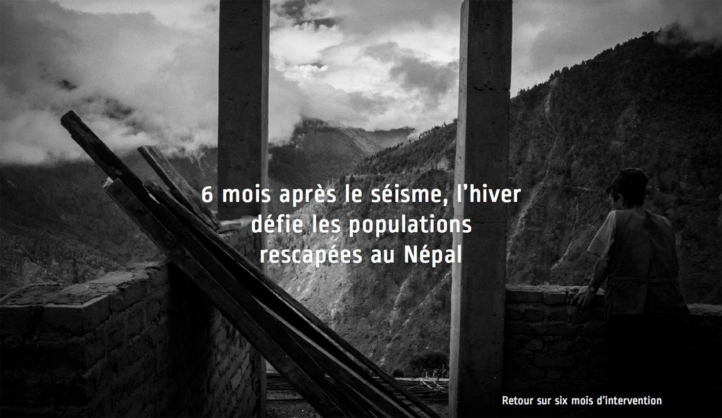 6 mois après le séisme au Népal